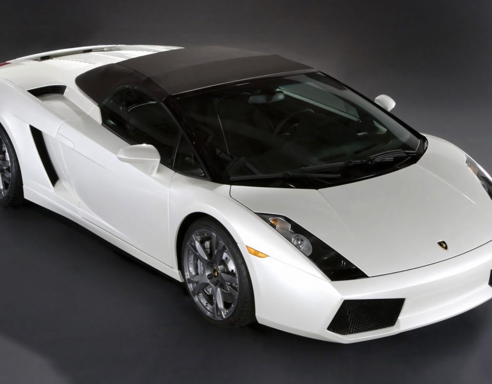 White Lamborghini Gallardo Spyder Car