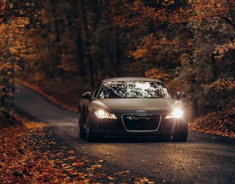 Black Audi Car Model 2015 In Forest