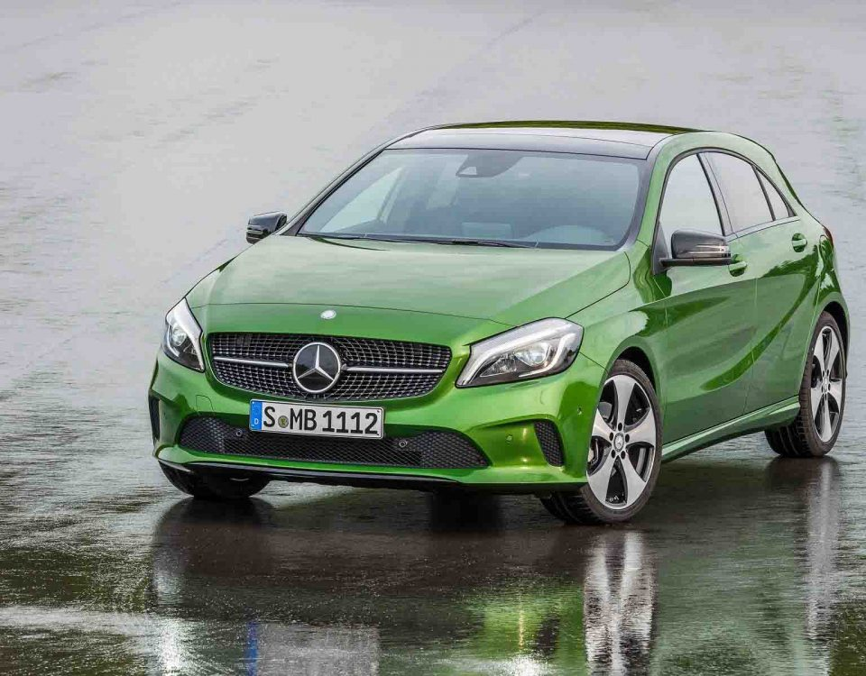 Mercedes A200 Green Car