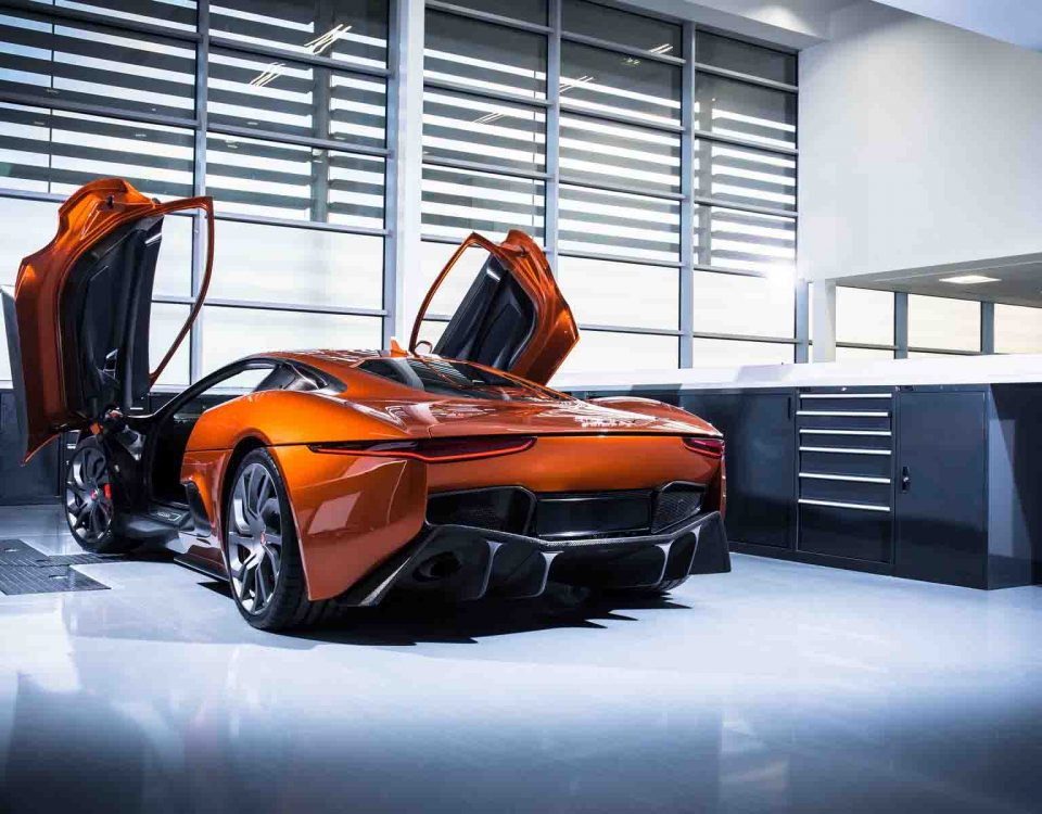 Orange Car Jaguar C-X75