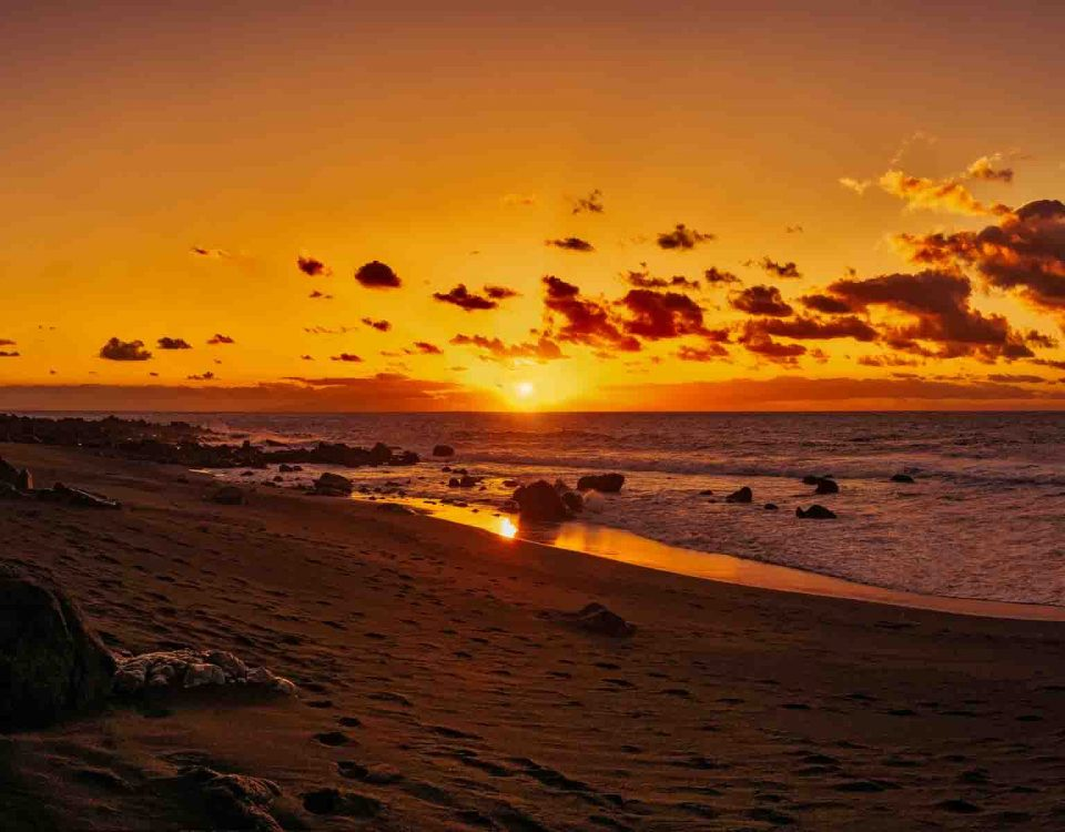 Stunning Sunset On Canary Islands