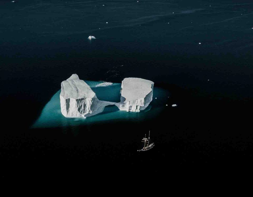 Iceberg Between Water