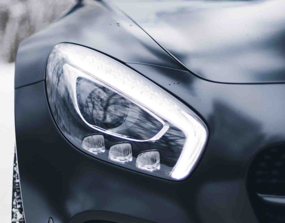 Black Mercedes GLK Headlights 2017