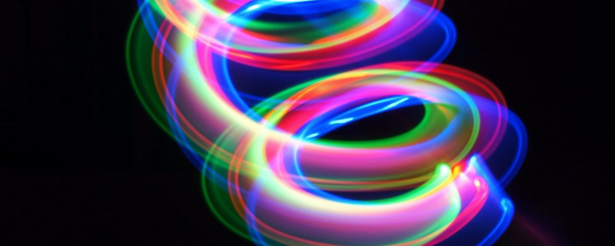 Wavy Colorful Spiral Line Art
