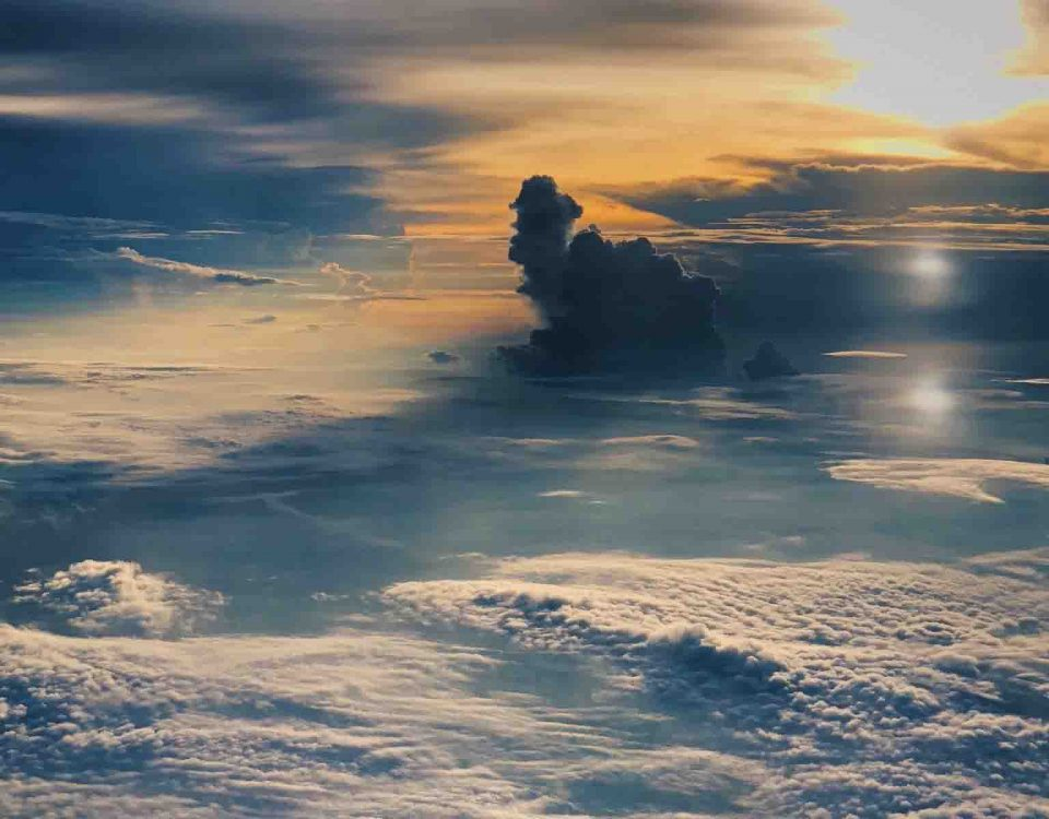 Beautiful Sun Above The Clouds