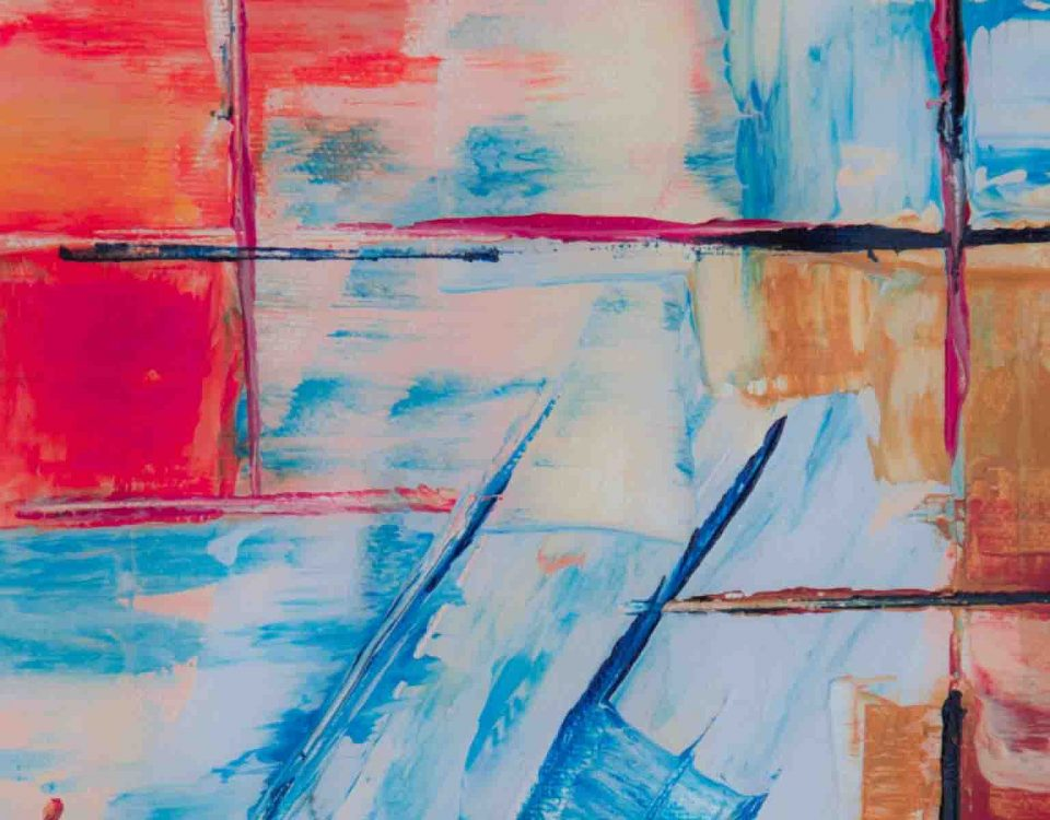 Background Of Abstract Color Strokes