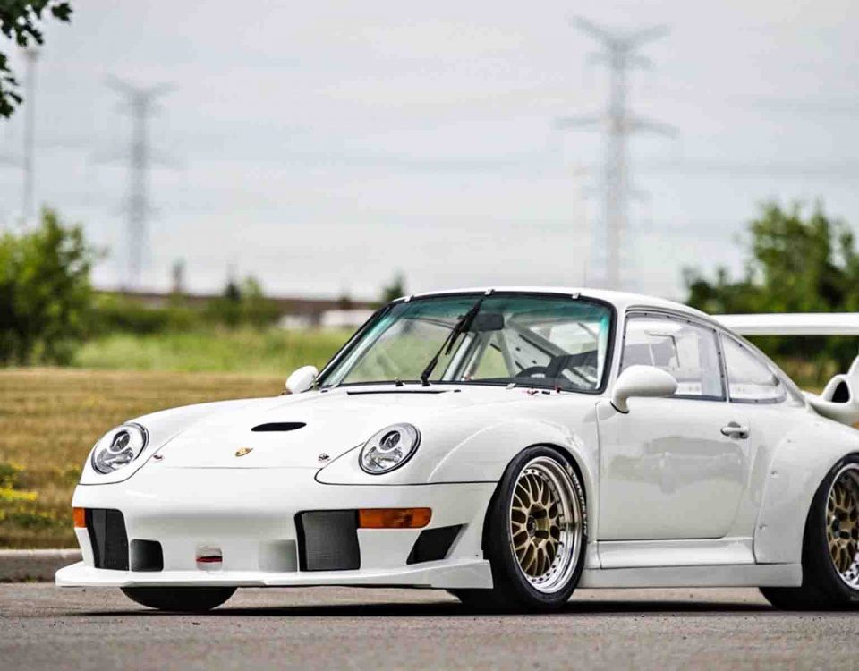 Porsche GT3 White Car On Road