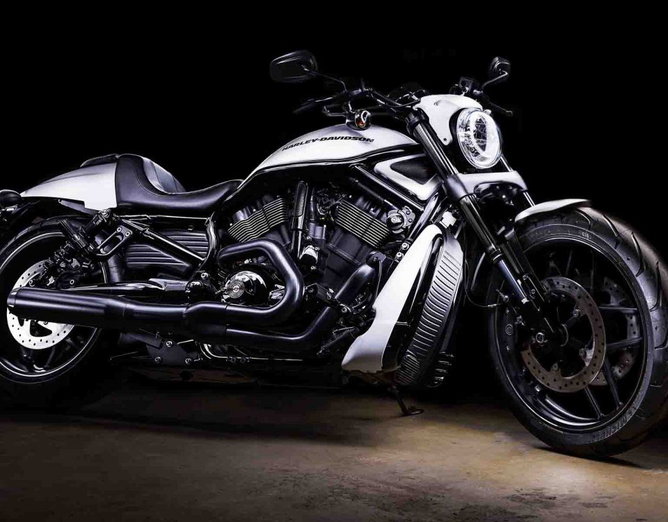 White Bike Harley Davidson