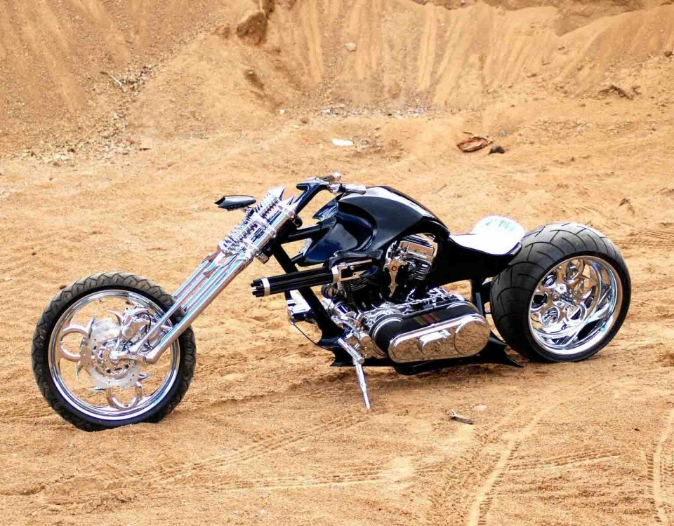 Black Chopper Bike In Pakistan