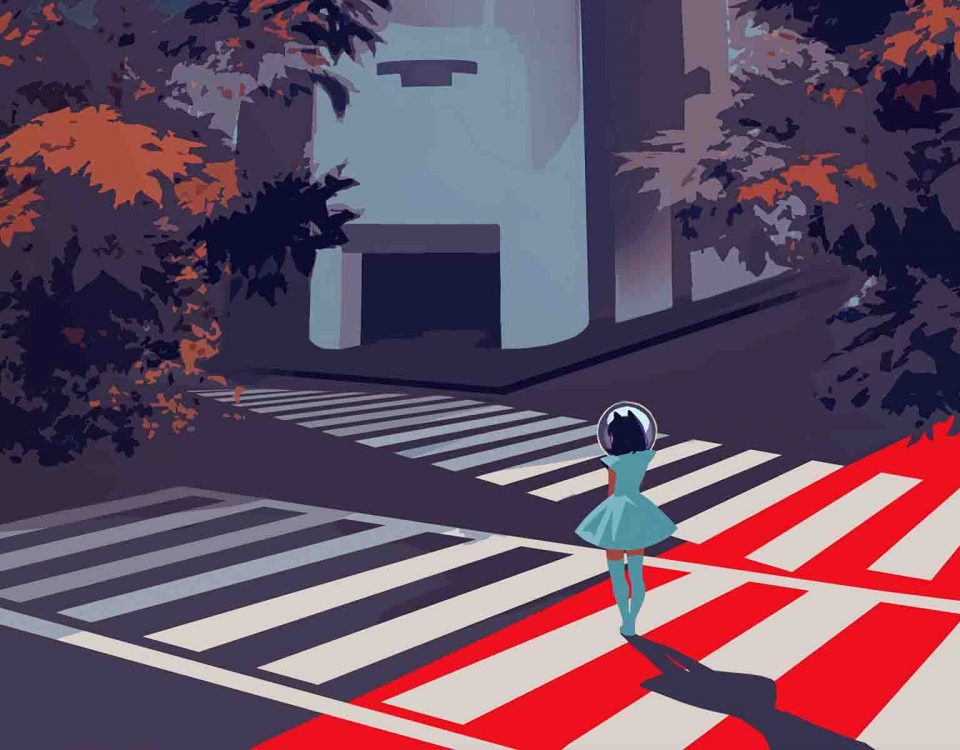 Crosswalk Vector And Silhouette
