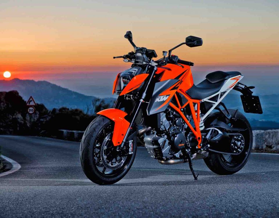 KTM Duke R Orange Color Bike Standing