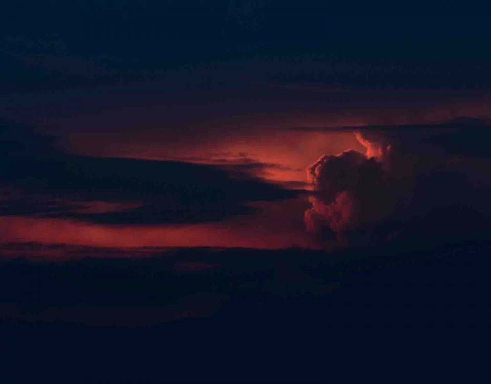 Red Clouds In Evening Time