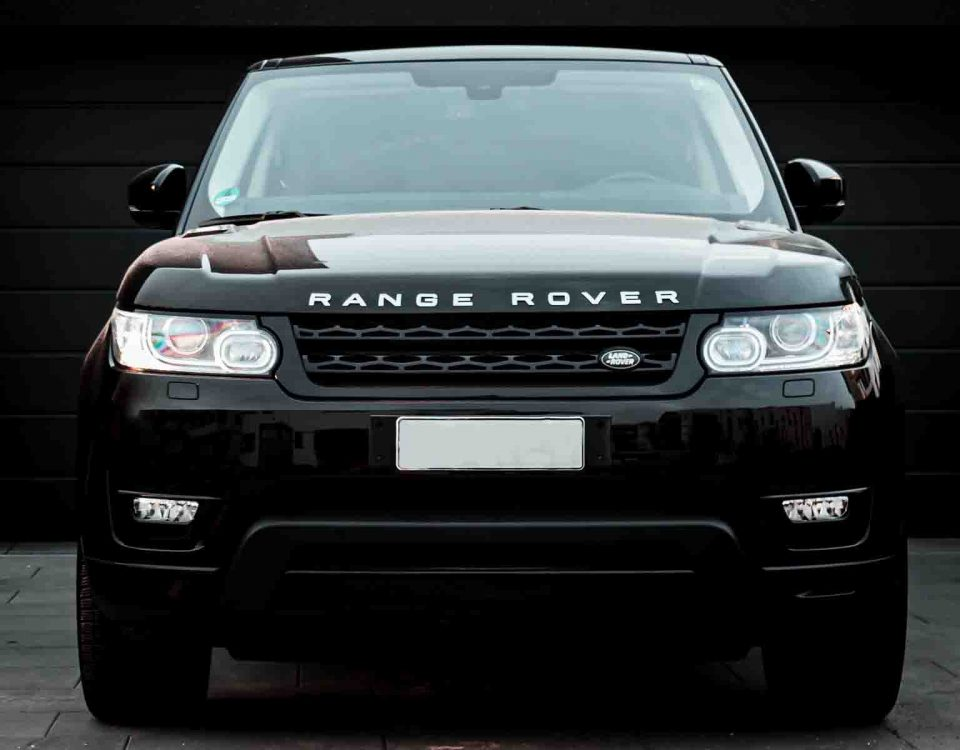 Black Land Rover Car