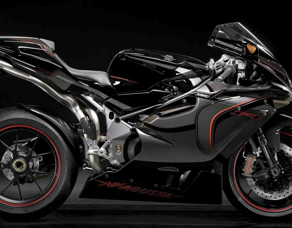 MV Agusta F4CC Black Bike On Black Background