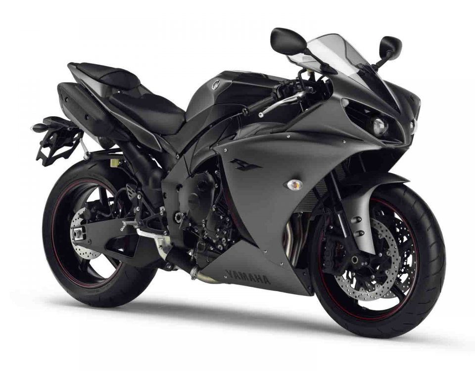 Black Yamaha YZF R125 Bike On White Background