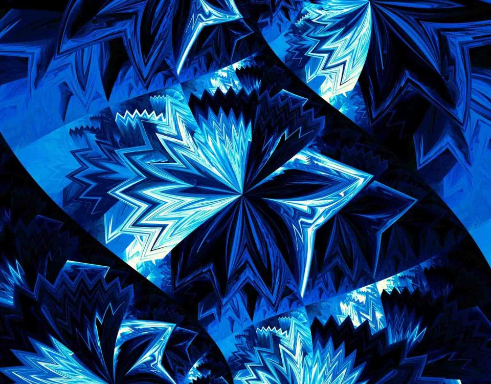 Cool Art Designs In Different Shades of Blue Color