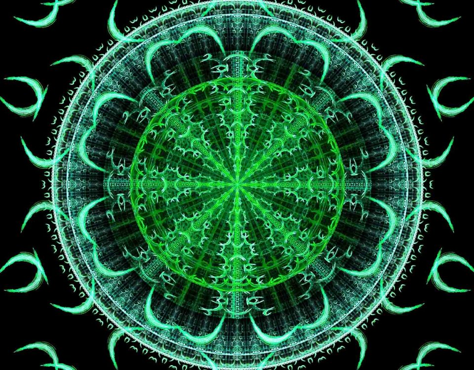 Mandalas Art To Color Green