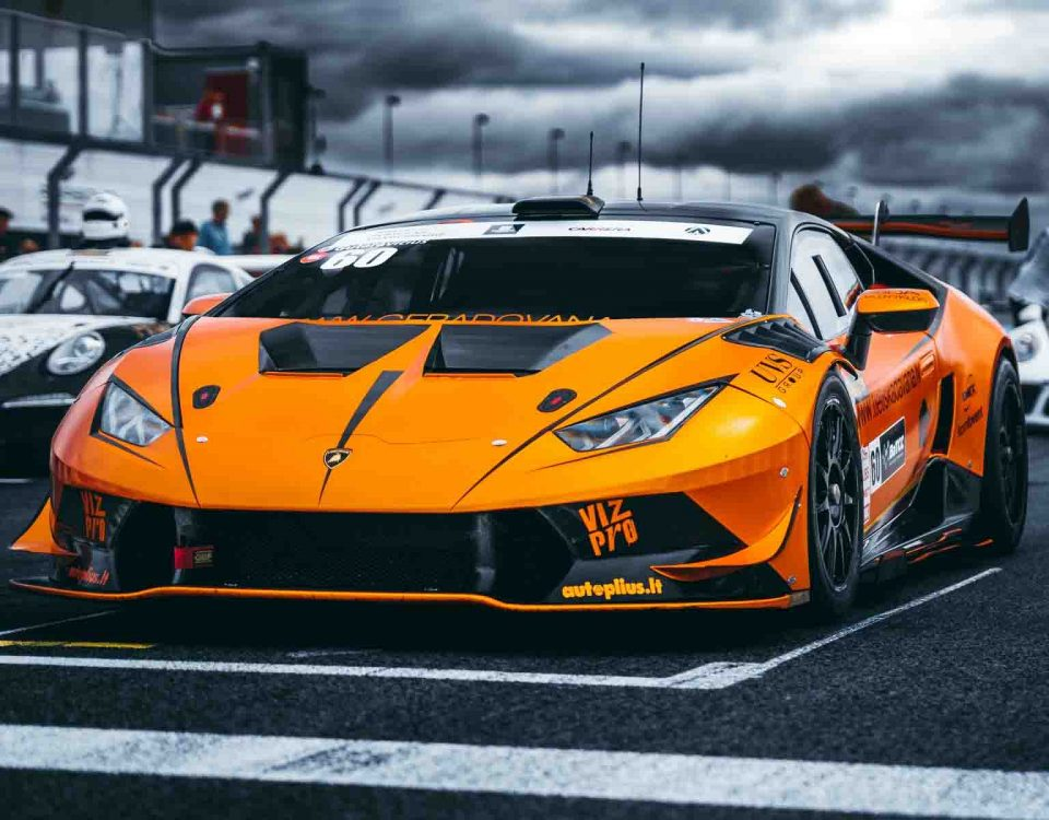 Beauty of Orange Lamborghini Car