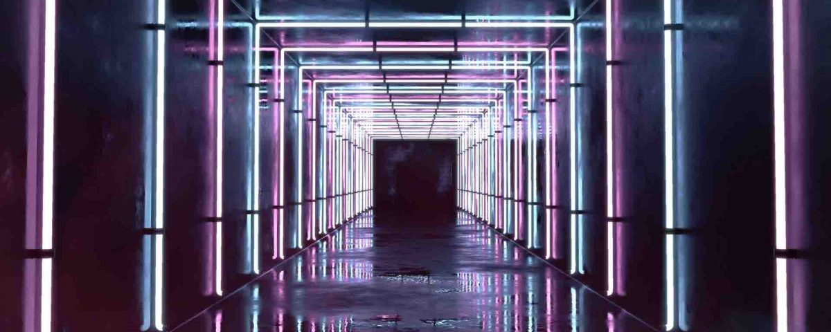 Neon Interior Tunnel of Light